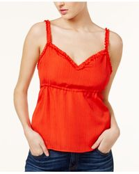 Guess - Audrey Textured Camisole - Lyst