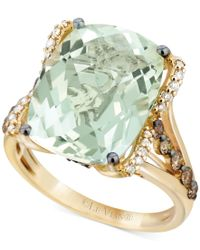 Le Vian | Metallic Green Amethyst (9-3/4 Ct. T.w.), White Diamond (1/8 Ct. T.w.) And Chocolate Diamond (3/8 Ct. T.w.) Ring In 14k Gold | Lyst