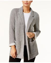 Style & Co. - Gray French Terry Blazer - Lyst