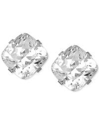 Macy's | Metallic Swarovski Zirconia Stud Earrings In 14k White Gold (3-9/10 Ct. T.w) | Lyst