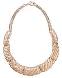 Macy's - Metallic Bronzarte Segmented Collar Necklace In 18k Rose Gold Over Bronze - Lyst