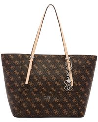 Guess - Brown Delaney Signature Small Classic Tote - Lyst