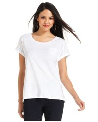 Style & Co.   White Pocket T-shirt, Only At Macy's   Lyst