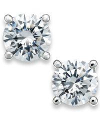 X3 | Metallic Certified Diamond Stud Earrings In 18k White Gold (1/2 Ct. T.w.) | Lyst