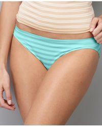 15a38daa518f3 Lyst - Jockey Comfies Matte And Shine Bikini 1305 in Blue