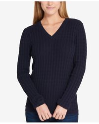Tommy Hilfiger - Blue Cable-knit Sweater - Lyst