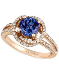 ct ring tanzanite vanilla pin gold diamonds le vian tw