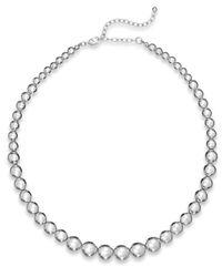 Charter Club | Metallic Silver-tone Graduated Bead Collar Necklace | Lyst
