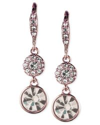 Givenchy | Metallic Crystal Small Pave Drop Earrings | Lyst