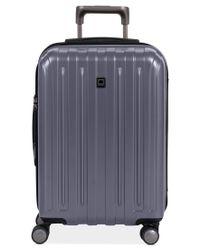 "Delsey | Gray Closeout! Helium Titanium 21"" Carry On Expandable Hardside Spinner Suitcase for Men 