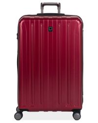 "Delsey | Red Closeout! 60% Off Helium Titanium 29"" Expandable Hardside Spinner Suitcase for Men 