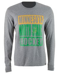 47 Brand Gray Men's Stacked Club Long Sleeve T-shirt for men