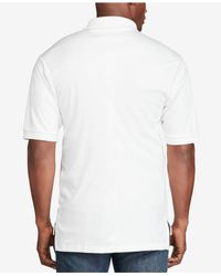 Polo Ralph Lauren - White Big And Tall Pima Soft-touch Interlock Polo for Men - Lyst