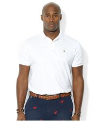 Polo Ralph Lauren   White Men's Big And Tall Pima Soft-touch Interlock Polo for Men   Lyst
