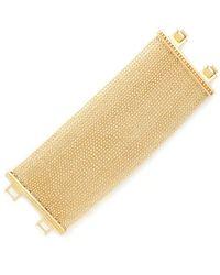 ABS By Allen Schwartz | Multicolor Gold-tone Ball-chain Multi-row Flex Bracelet | Lyst