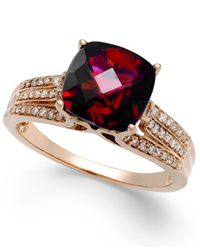 Effy Collection | Metallic Effy Rhodolite Garnet (3-1/4 Ct. T.w.) And Diamond (1/5 Ct. T.w.) Ring In 14k Rose Gold | Lyst