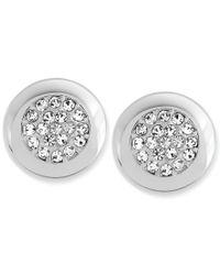 Swarovski | Metallic Crystal Pave Stud Earrings | Lyst