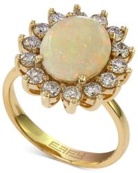 Effy Collection Metallic Effy Opal (1-7/8 Ct. T.w.) And Diamond (1 Ct. T.w.) Ring In 14k Gold
