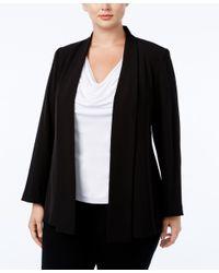 Calvin Klein   Black Plus Size Open-front Soft Jacket   Lyst