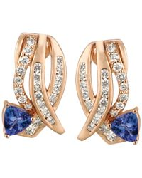 Le Vian - Pink Tanzanite (3/4 Ct. T.w.) And Diamond (3/4 Ct. T.w.) Earrings In 14k Rose Gold - Lyst