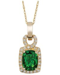 Le Vian | Green Chrome Diopside (1-1/3 Ct. T.w.) And Diamond (1/8 Ct. T.w.) Pendant Necklace In 14k Gold | Lyst