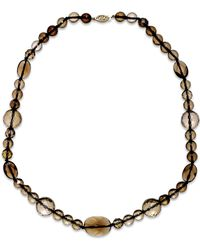 Macy's | Metallic Smoky Quartz Collar Necklace In 14k Gold (258-1/2 Ct. T.w.) | Lyst
