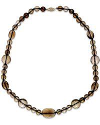 Macy's - Metallic Smoky Quartz Collar Necklace In 14k Gold (258-1/2 Ct. T.w.) - Lyst