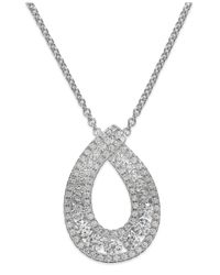 Arabella | Metallic Swarovski Zirconia Pendant Necklace In Sterling Silver (1-1/4 Ct. T.w.) | Lyst