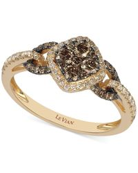 Le Vian | Brown Chocolate And White Diamond Ring In 14k Rose Gold (5/8 Ct. T.w.) | Lyst