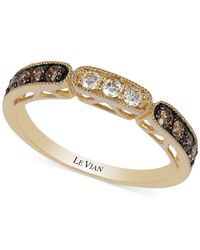 Le Vian | Brown Chocolate And White Diamond Ring In 14k Gold (3/8 Ct. T.w.) | Lyst