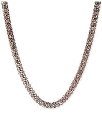 Anne Klein | Multicolor Rose Gold-tone Pave Tubular Collar Necklace | Lyst