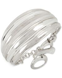 Robert Lee Morris - Metallic Silver-tone Wide Toggle Bracelet - Lyst