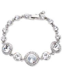Givenchy | Blue Rhodium-plated Crystal Flex Bracelet | Lyst