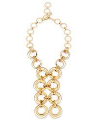 Robert Lee Morris | Metallic Gold-tone Multi-circle Statement Necklace | Lyst