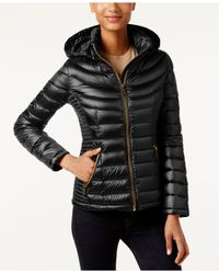 CALVIN KLEIN 205W39NYC - Black Packable Hooded Puffer Coat - Lyst
