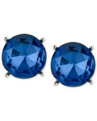 Kenneth Cole | Silver-tone Blue Faceted Bead Stud Earrings | Lyst