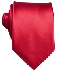 Perry Ellis   Red Sateen Solid Tie for Men   Lyst