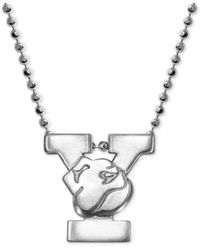 Alex Woo | Metallic Little Collegiate By Yale Pendant Necklace In Sterling Silver | Lyst
