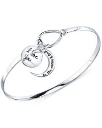 """Macy's - Metallic Inspirational """"i Love You To The Moon And Back"""" Bangle Bracelet - Lyst"""