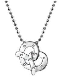 Alex Woo   Metallic Little Cities By Pretzel Pendant Necklace In Sterling Silver   Lyst