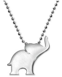 Alex Woo | Metallic Elephant Pendant Necklace In Sterling Silver | Lyst