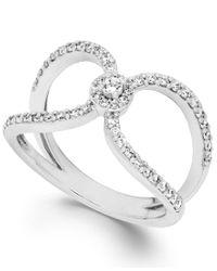 Macy's   Metallic Diamond Cutout Ring In 14k White Gold (1/2 Ct. T.w.)   Lyst