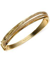 Effy Collection | Metallic Diamond Crossover Bangle Bracelet In 14k Gold (1 Ct. T.w.) | Lyst