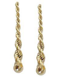 Macy's | Metallic Graduated Rope Linear Earrings In 14k Gold | Lyst