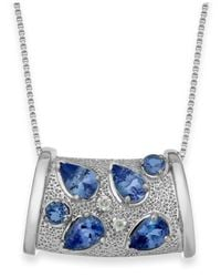 Macy's | Metallic Tanzanite (1-3/4 Ct. T.w.) And Diamond Accent Pendant Necklace In Sterling Silver | Lyst