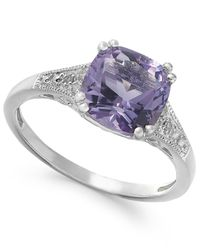 Macy's | Amethyst (2-7/8 Ct. T.w.) And Diamond Accent Ring In 14k White Gold | Lyst