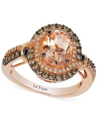Le Vian | Pink Morganite (1-1/5 Ct. T.w.) And Diamond (1/2 Ct. T.w.) Ring In 14k Rose Gold | Lyst