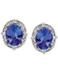 Le Vian - Azureblues Tanzanite (2 Ct. T.w.) And Diamond (1/4 Ct. T.w.) Stud Earrings In 14k White Gold - Lyst