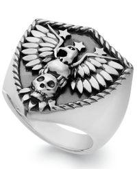 Macy's   Metallic Men's Eagle Ring In Sterling Silver for Men   Lyst