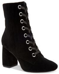 BCBGeneration - Black Alexa Block-heel Booties - Lyst